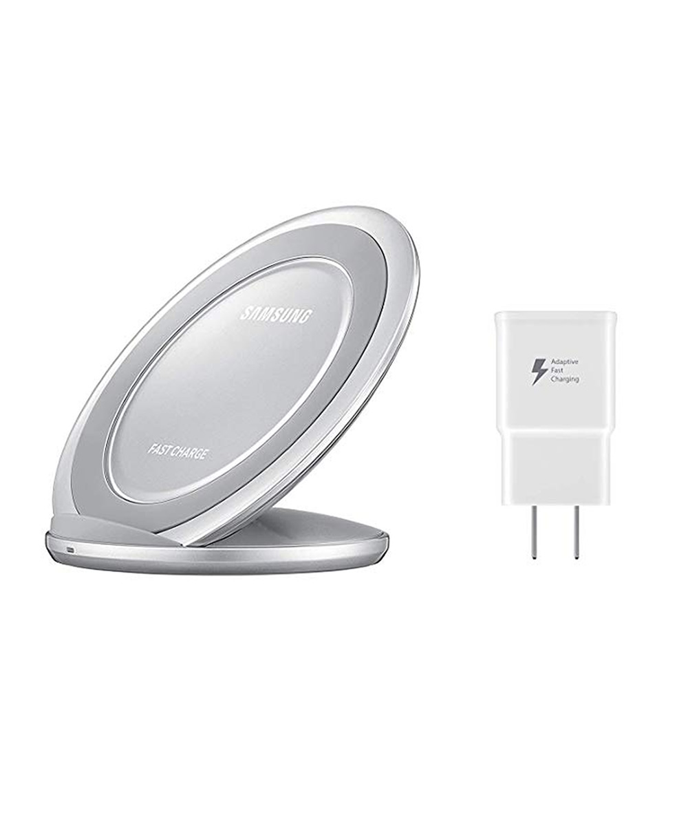 ee579ead3b37f7 Samsung Fast Charge Wireless Charging Stand ( Silver ) - ELEX